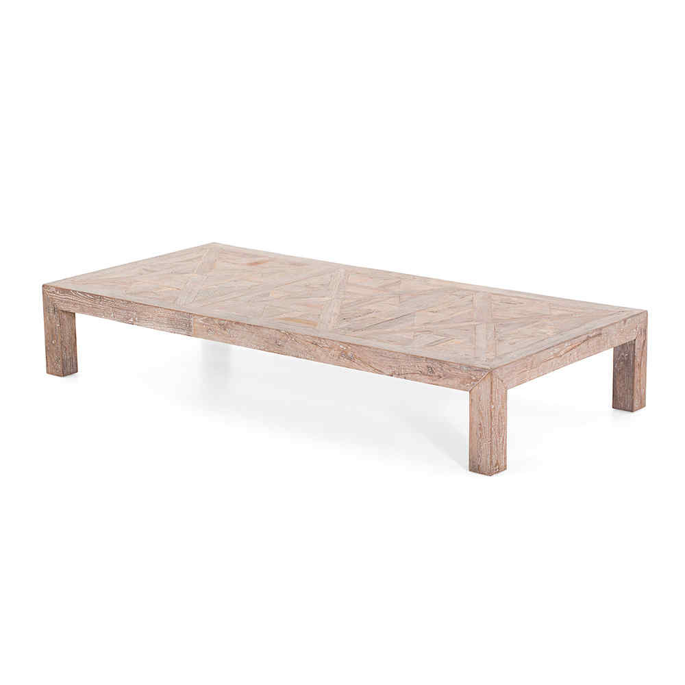 Maline Table Basse Rectangulaire En Bois Massif Recycl Flamant