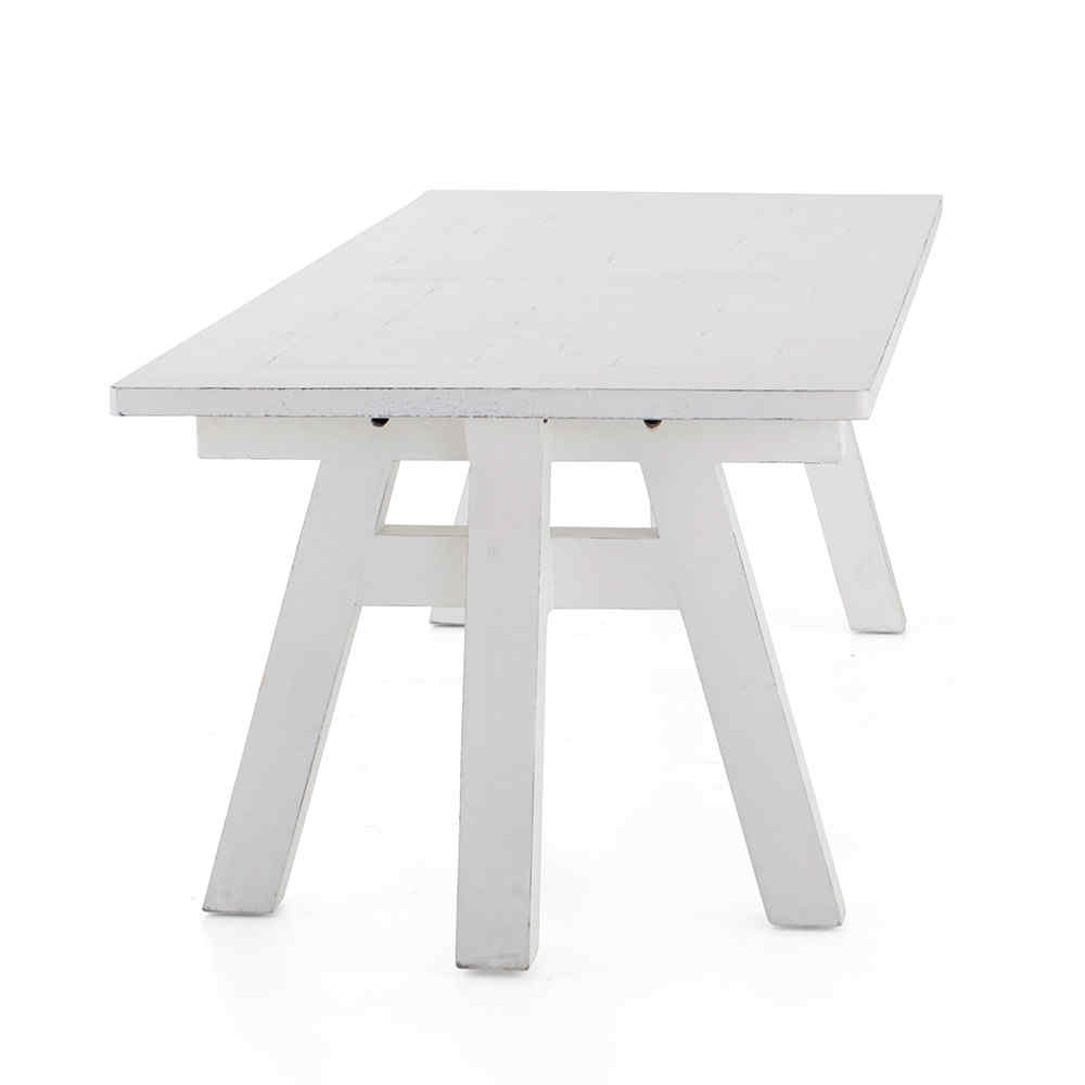 Larul table de salle manger en pin blanc rectangulaire for Salle a manger flamant