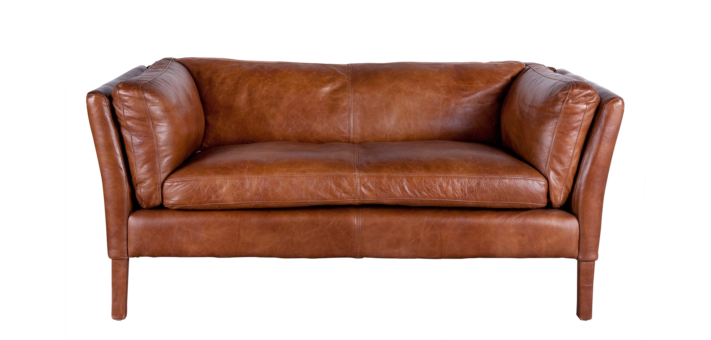 Fabulous Bellamy Sofa Cognac Brown Leather 2 Seater Flamant Pdpeps Interior Chair Design Pdpepsorg