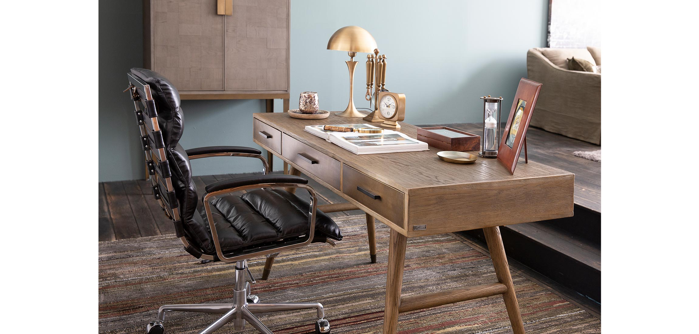 Awesome Alex Desk Chair Leather Flamant Theyellowbook Wood Chair Design Ideas Theyellowbookinfo
